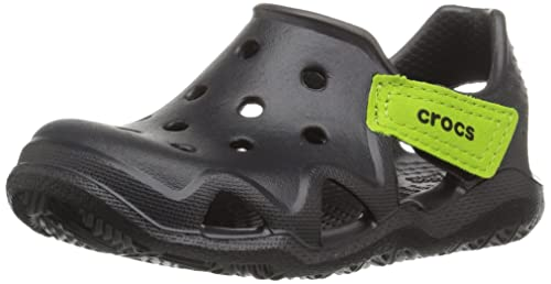 931963fd2233cd crocs Swiftwater Wave Girls Shoe in Black  Buy Online at Low Prices ...