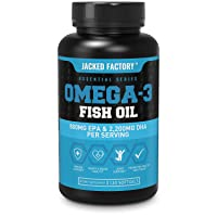 Omega 3 Fish Oil High Potency 3080mg, Enteric Coated Burpless & Non-GMO - Best Omega-3 Fatty Acids w/ 2200mg DHA, 880mg EPA, & CLA - Pharmaceutical Grade Omega 3 Supplement - 120 Soft Gel Pills