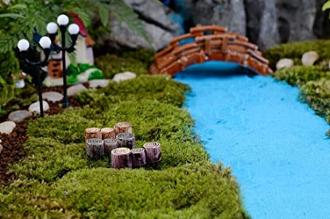 10x Miniatura Scalinata Giardino Deocro Bonsai Micro Paesaggio Casa Bambole