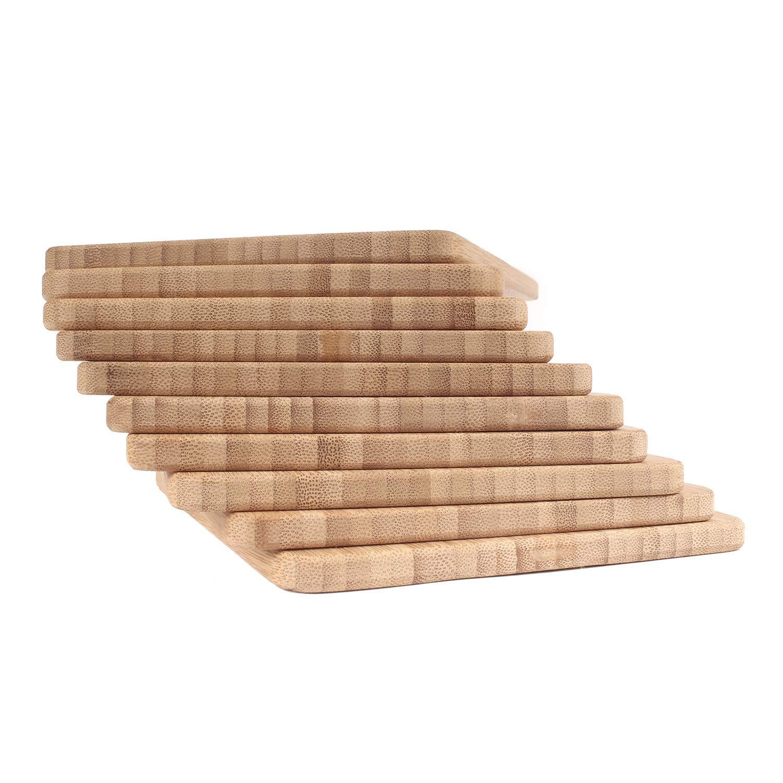 BambooMN Brand - Bulk Wholesale Premium Bamboo Cheese Board - 7.9'' x 5.5'' x 0.4'' - 100 pcs by BambooMN (Image #3)