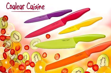 Compra Cuchillo - Estuche 5 cuchillos colores color cocina ...