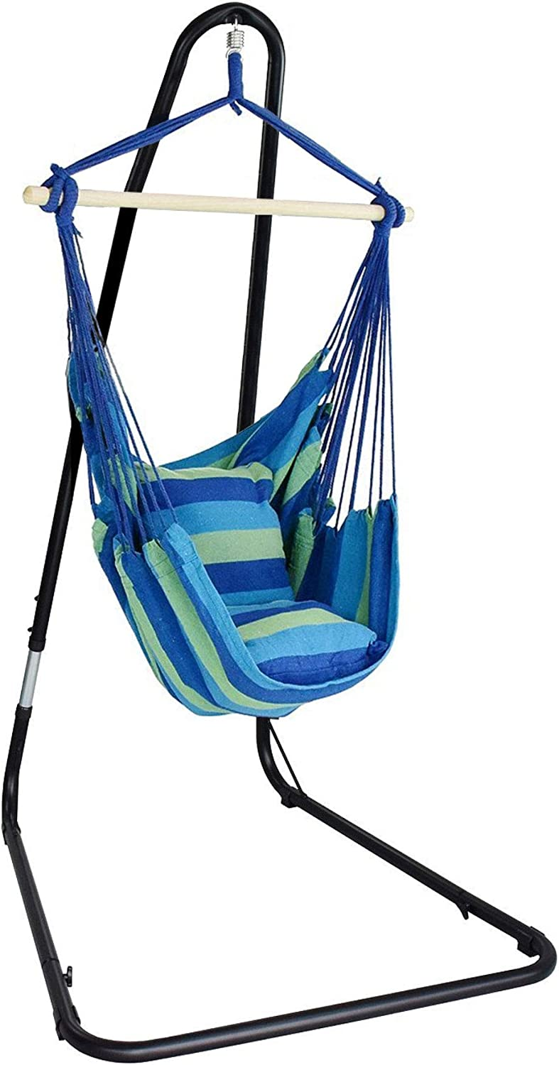 Sorbus Hammock Chair and Stand for Hanging Chairs, Swings for Any Indoor or Outdoor Spaces, Max. 300 Lbs.