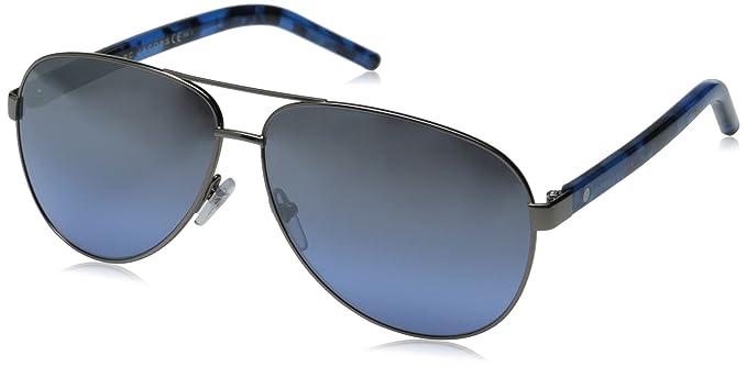 486f22104a Marc Jacobs Women s Marc71s Aviator Sunglasses Dark Ruthenium Gray Blue  Silver Sp Gradient 60 mm