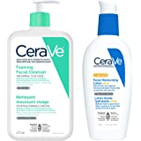 CeraVe Daily Face Cleanser and Facial Moisturizer Bundle, Foaming Facial Cleanser for Oily Skin and Face Moisturizer Lotion A