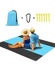 Gonex Beach Blanket 110cmx160cm Portable Lightweight Sandproof Waterproof Picnic Blanket for Outdoor Travel Camping Hiking Activities