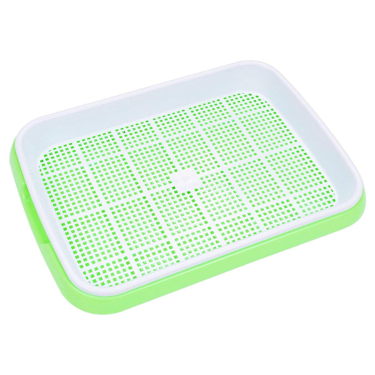 Seed Sprouter Tray BPA Free PP Soil-Free Big Capacity Healthy Wheatgrass Grower 9.84 x 13.4inch