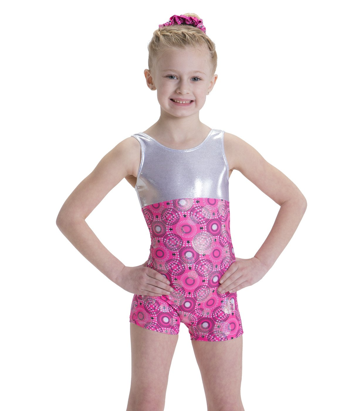 fa0124621e6c Amazon.com : Motionwear Gymnastic Poppin' Pink Print with Bouncing Bubbles  Holographic Foil Body, Pink Print, Small Child : Sports & Outdoors