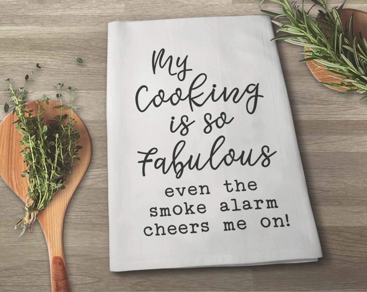 Highly Absorbent 100/% Cotton 27 x 27 Inches Honey Dew Gifts My Cooking is so Fabulous Flour Sack Towel Multi-Purpose Kitchen Dish Towel