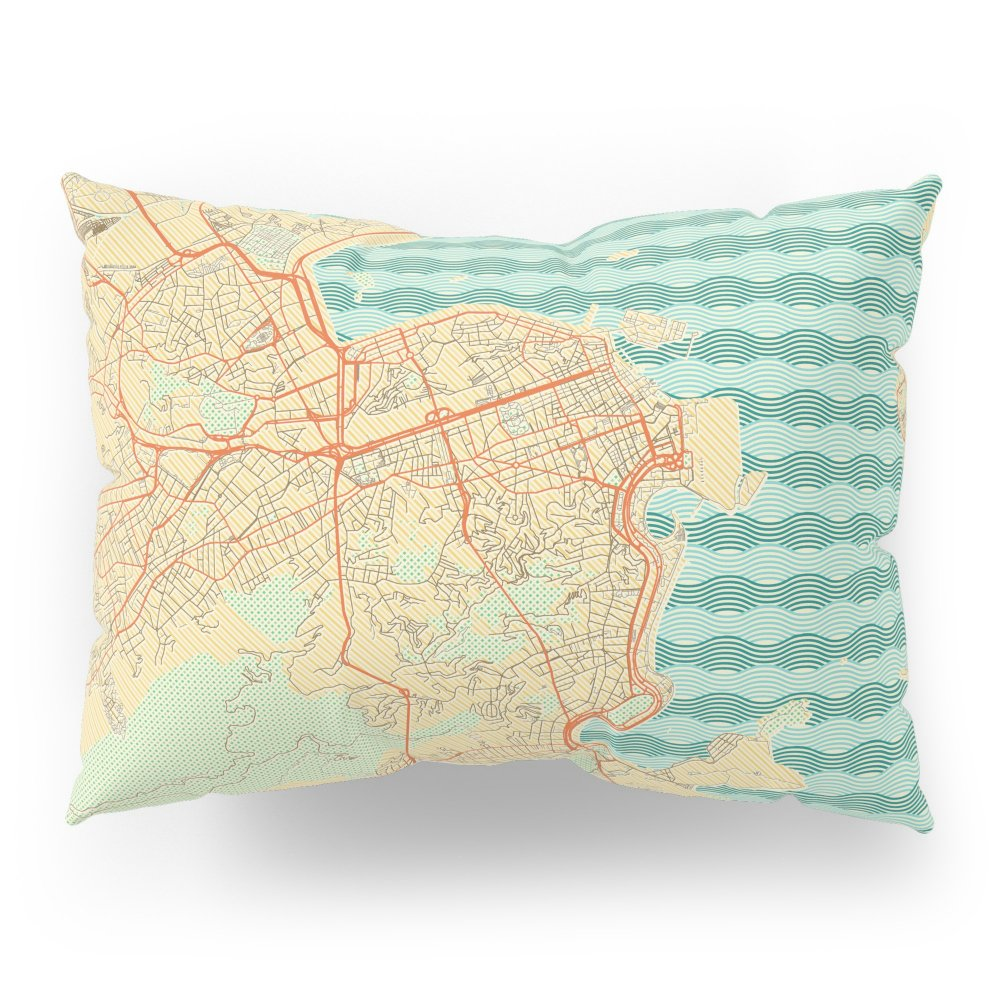 Society6 Rio De Janerio Map Retro Pillow Sham Standard (20'' x 26'') Set of 2