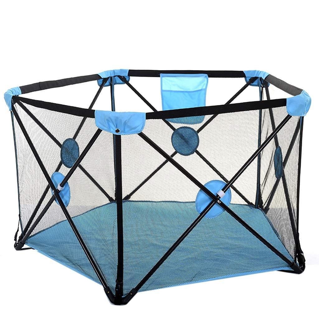 ベッドガードフェンス 子供屋内クロール遊び場 子供の家の安全保護屋内/屋外遊びトンネルと遊びのテント 子供の遊び場子供のおもちゃ (Color : Blue)  Blue B07SJ4JN2B