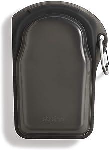 Stasher Platinum Silicone Food Grade Reusable Storage Bag, Black (GO Bag) | Reduce Single-Use Plastic | Snack, Store, or Travel | Leakproof, Dishwasher-Safe, Eco-friendly | 18 Oz