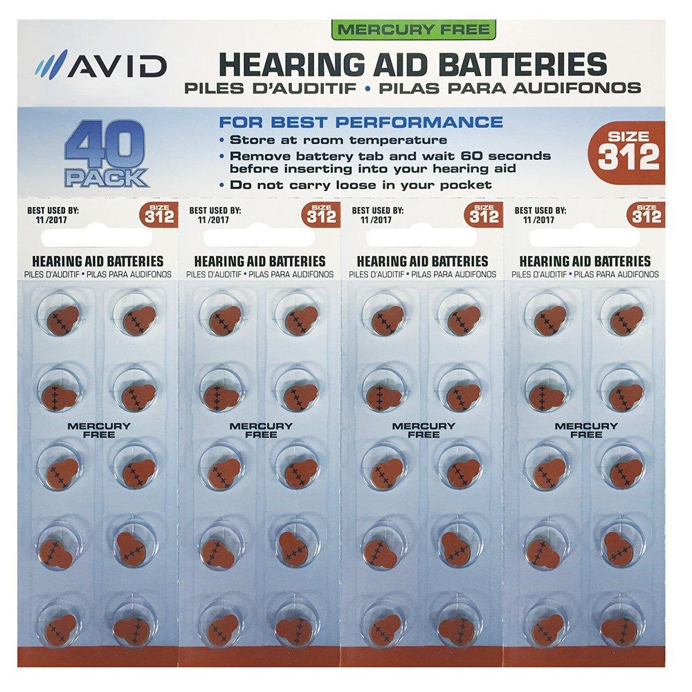 Avid (HLT-312BATT40) Hearing Aid #312 Battery (40 Count)