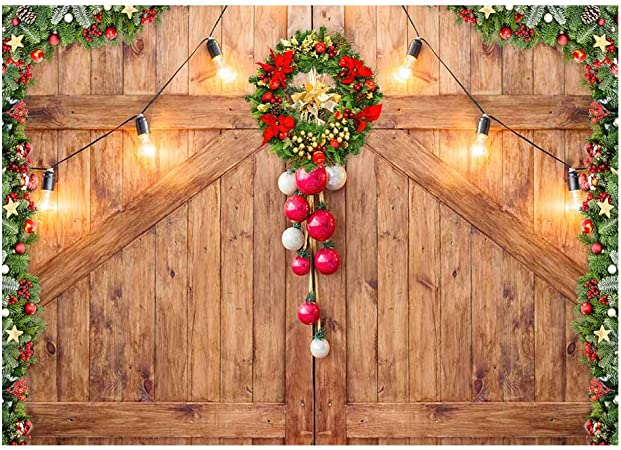 Merry Christmas Background Xmas Photography Backdrop Rustic Brick Wall Background Bunting Decorations Noel Kids Baby Falimy Photo Studio Photobooth Portrait Poster Christmas Eve Holiday Party Backdrop