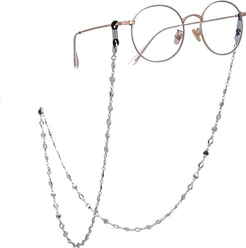GoOpticians Collier avec cordon en perles violettes pour femme