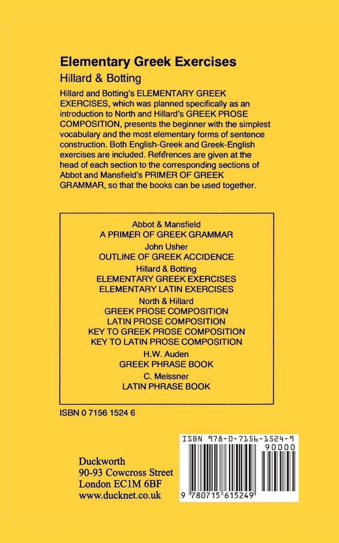 Elementary Greek Exercises (Greek Language) by Bristol Classical Press