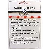 SabelAX Pulsera Roja 7 Nudos y Pulsera Ojo Turco, Hilo Rojo, Amuleto Buena Suerte, Proteccion Mal de Ojo, Para Mujer…