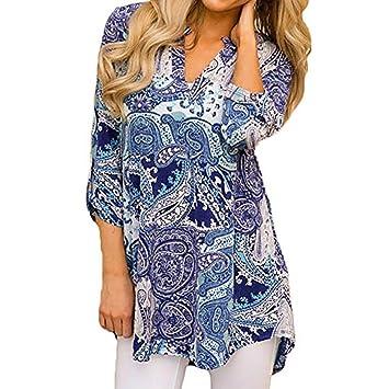Mujer blusa Otoño manga larga casual moda elegante 2018,Sonnena Mujer Blusa con cuello en