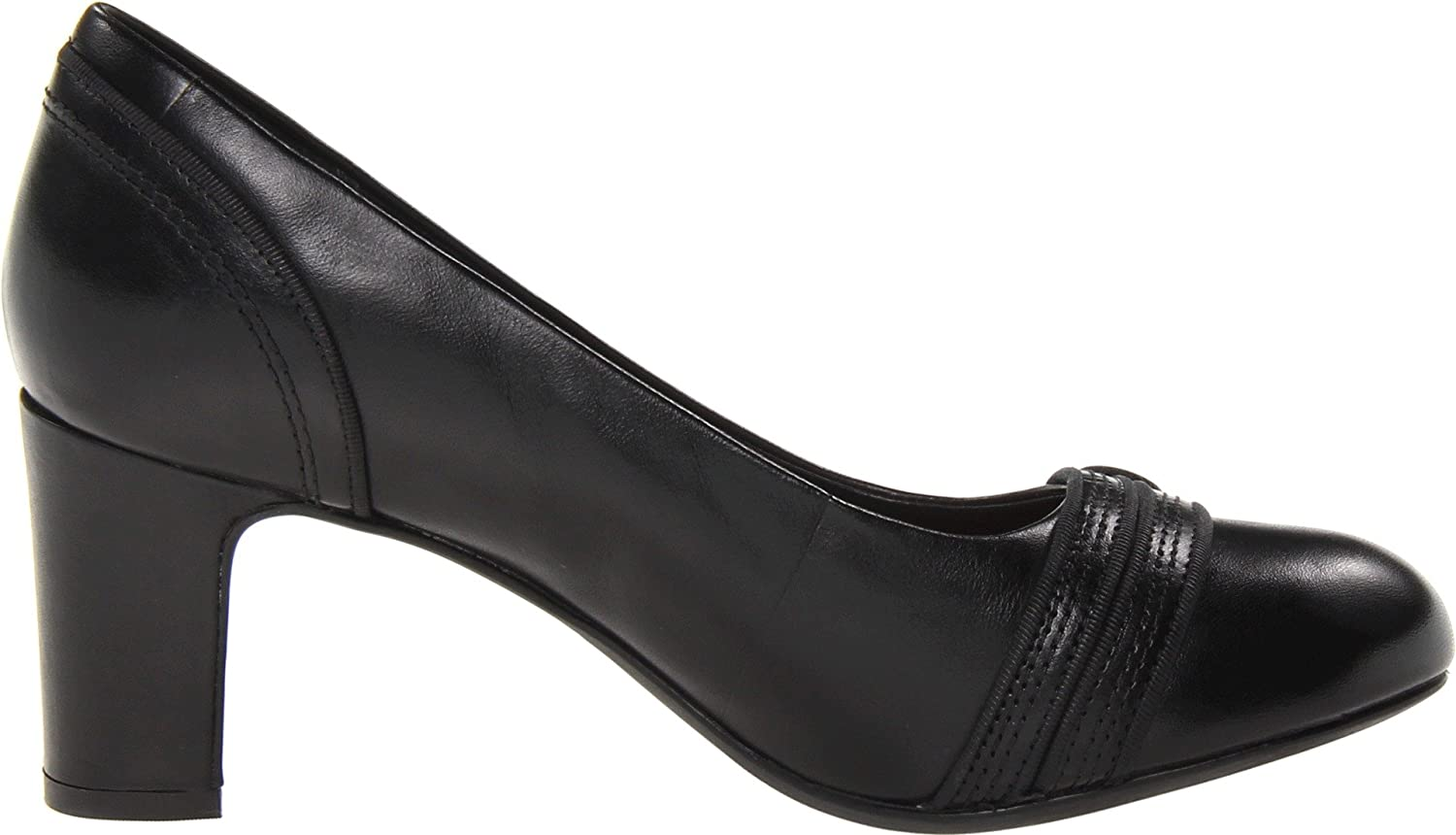 Amazon.com | CLARKS Women's Tamryn Cider, Black Leather, 9 B-Medium | Pumps