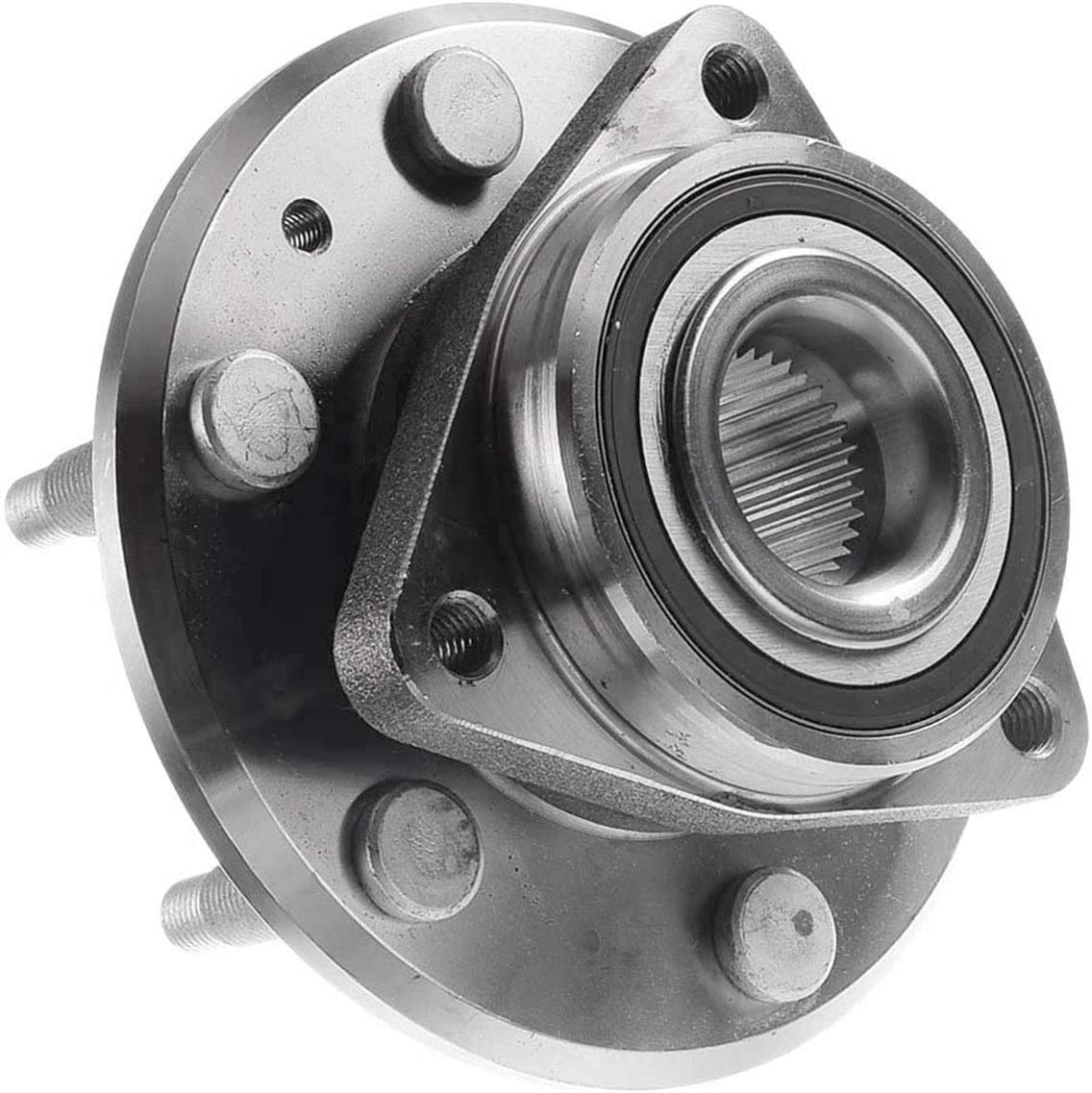 A-Premium Wheel Hub and Bearing Compatible with Buick Enclave 2008-2017 Chevy Traverse 2009-2017 GMC Acadia 2007-2016 Saturn Outlook 2007-2010 Front or Rear Axle