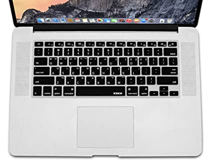 pretty nice ffb5d 9758c XSKN Korean Language Black Color Silicone Keyboard Skin Cover for MacBook  Air 13, Pro 13 15 17 inch, US Layout (Korean/English)