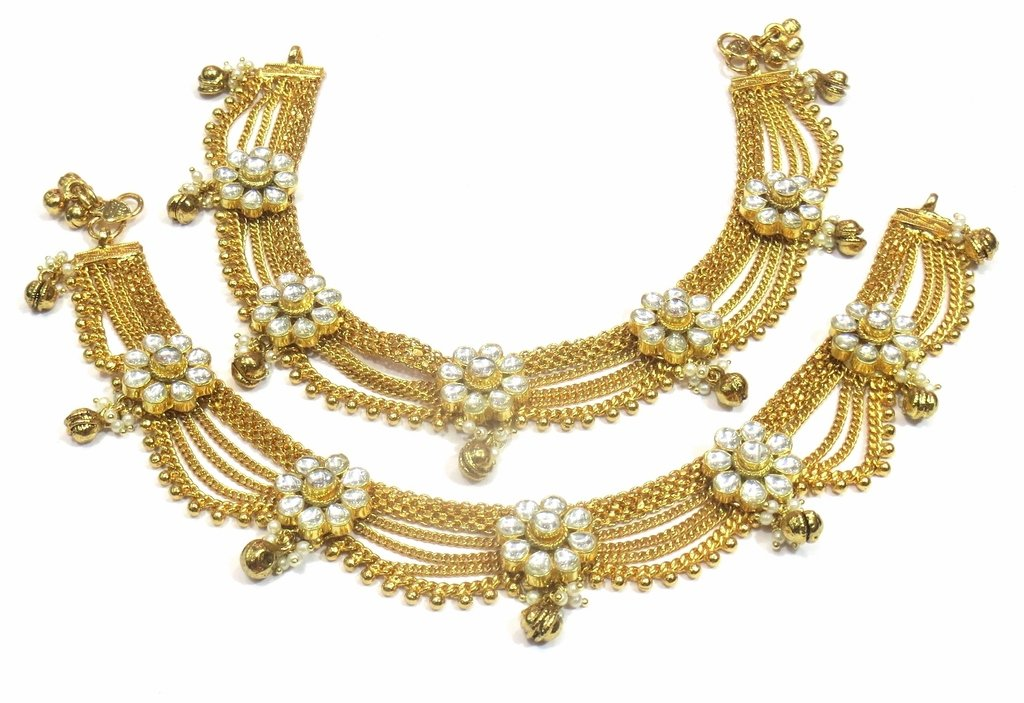 Jewelshingar Jewellery Exclusive Payal /Anklet /Pajeb For Girls ( 33192-payal )
