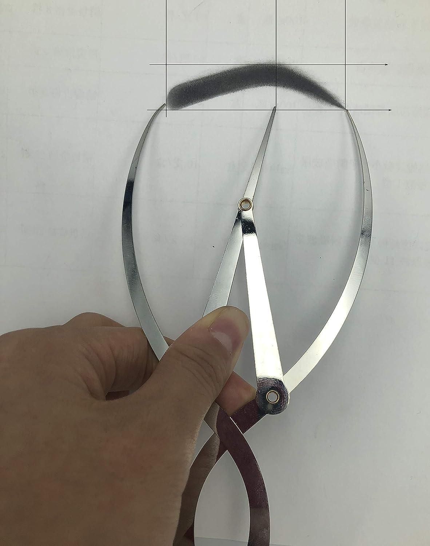 ARTIBETTER Golden Mean Ratio Calipers Three Point Positioning Balance Caliper for Eyebrow Makeup Tattoos Art Work Design Fibonacci Gauge Tools Stainless Steel