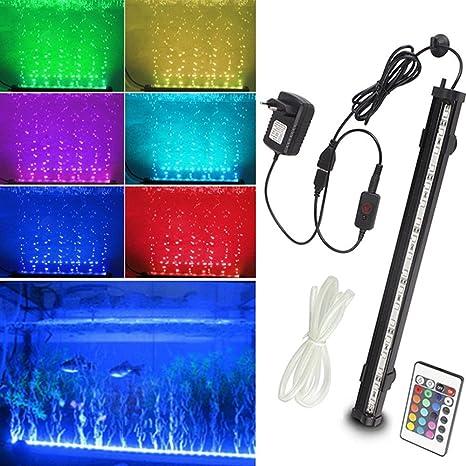 SPEED Acuario Lampara Iluminación Del Acuario Burbujas LED Burbujas para Acuario 60CM
