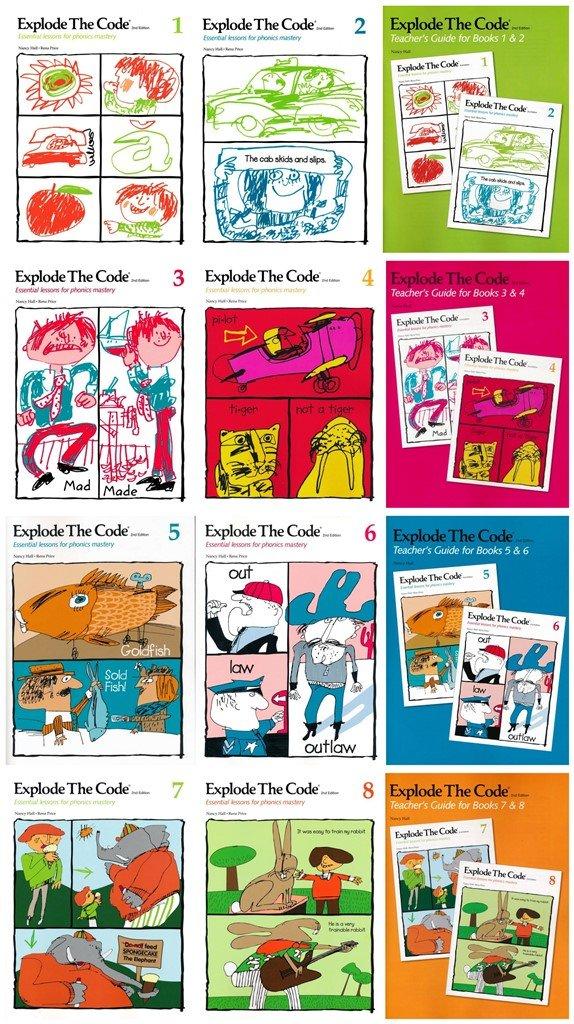 Download NEW Explode the Code 12 Books SET: Books 1-8 & Teacher's Guide PDF