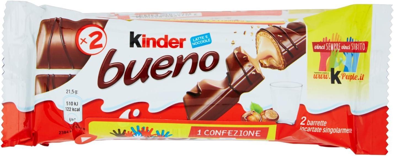 Kinder Bueno Barritas de Chocolate con Loche - Pack de 6 x 21.5 g ...