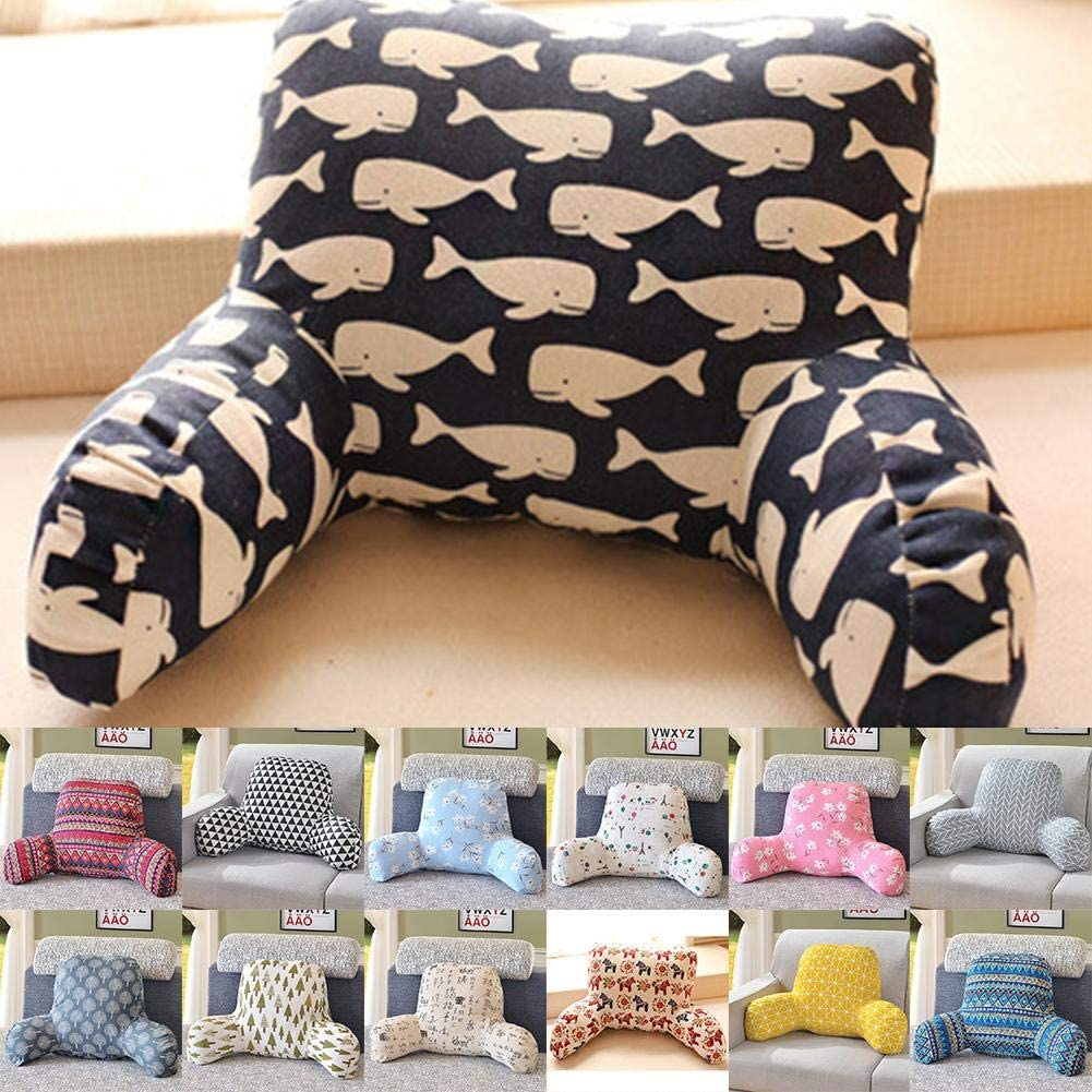 Reading Pillow,Waist Support Pillow Lounger Bed Rest Back Pillow Support Arm TV Backrest Seat Cushion Available,for Pregnant Women