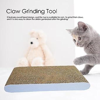 Flower205 Tabla de rascar para gatos, almohadilla para arañar, cartón reciclable duradero con gato