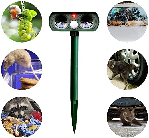 Sola Solar Mole Repeller Solar Animales por ultrasonido ...