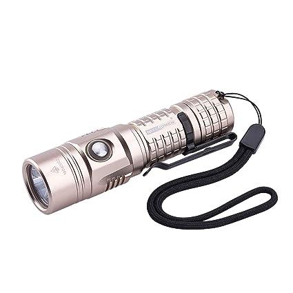 Amazon.com: Linterna recargable USB, superbrillante, 1000 ...
