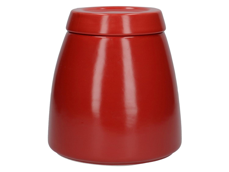 Acquisto La caffettiera Barcelona Zucchero in Ceramica/caffè/tè con Coperchio, 12.7x 12.7x 13.6cm (12,7x 12,7x 14cm)–Rosso Prezzi offerta