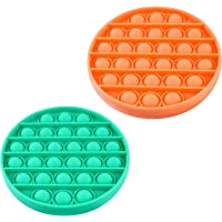 Push Pop Bubble Sensory Toy, Silicone Squeeze Sensory Toy, Stress Reliever for Kids, Family and Friends (2 PCS)