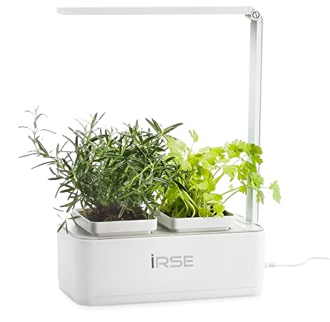 Nice IRSE Indoor Garden Kit, Hydroponics LED Growing System, 2 Self Watering  Gardening Pots,