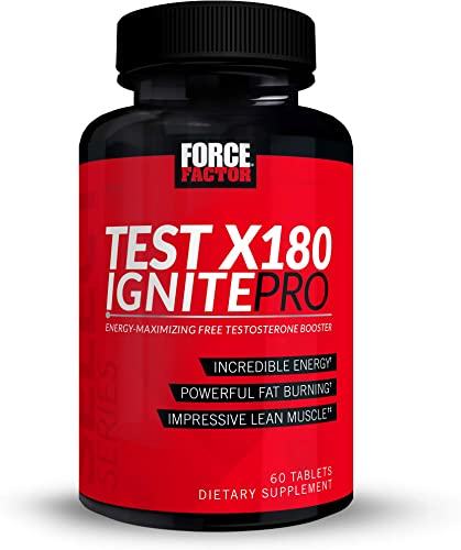 Force Factor Test X180 Ignite Pro Energy-Maximizing Preworkout, 60 Count