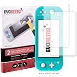 EVORETRO Tempered Glass Kit for Nintendo Switch Lite - Ultra Clear Heavy Duty Screen Protectors (2 PACK)