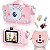 INOCTI Kids Camera, Children Digital Selfie Video Camera with Camera Bag 1080P Dual Lens 2.0 Inch HD, 3-10 Year Old…