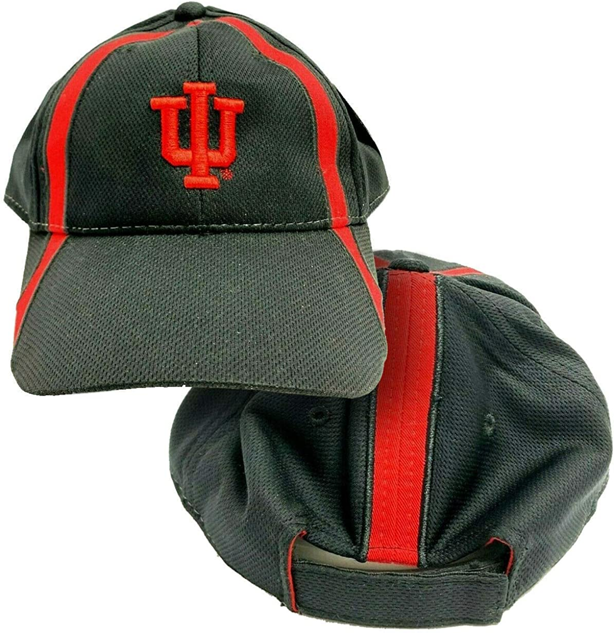 NCAA by Signatures Indiana University Hoosiers IU Athletic Embroidered Adjustable Strap Team Hat Black