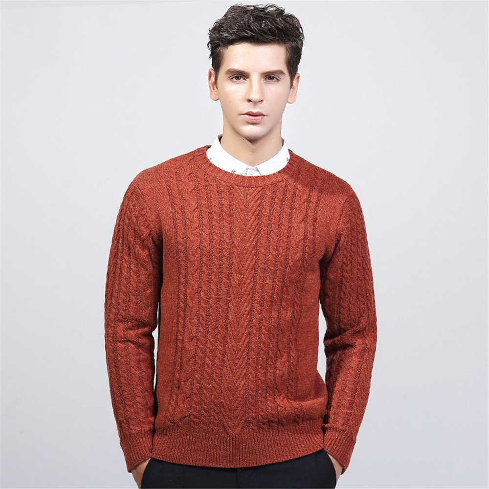 Jdfosvm Winter - Pullover, modische Stehkragen, Hals - Pullover, Junge Thread - Pulli,Orange,XL