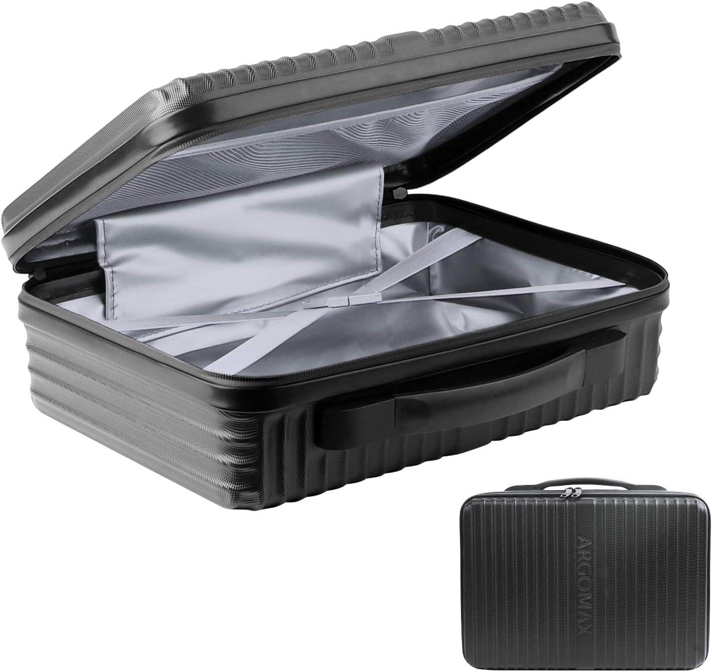 JIESI Portable Cooler Bag, Cooler Box for Beer, Travel Cooler, Insulated Slim Cooler,Slim Iceless Cooler - Black