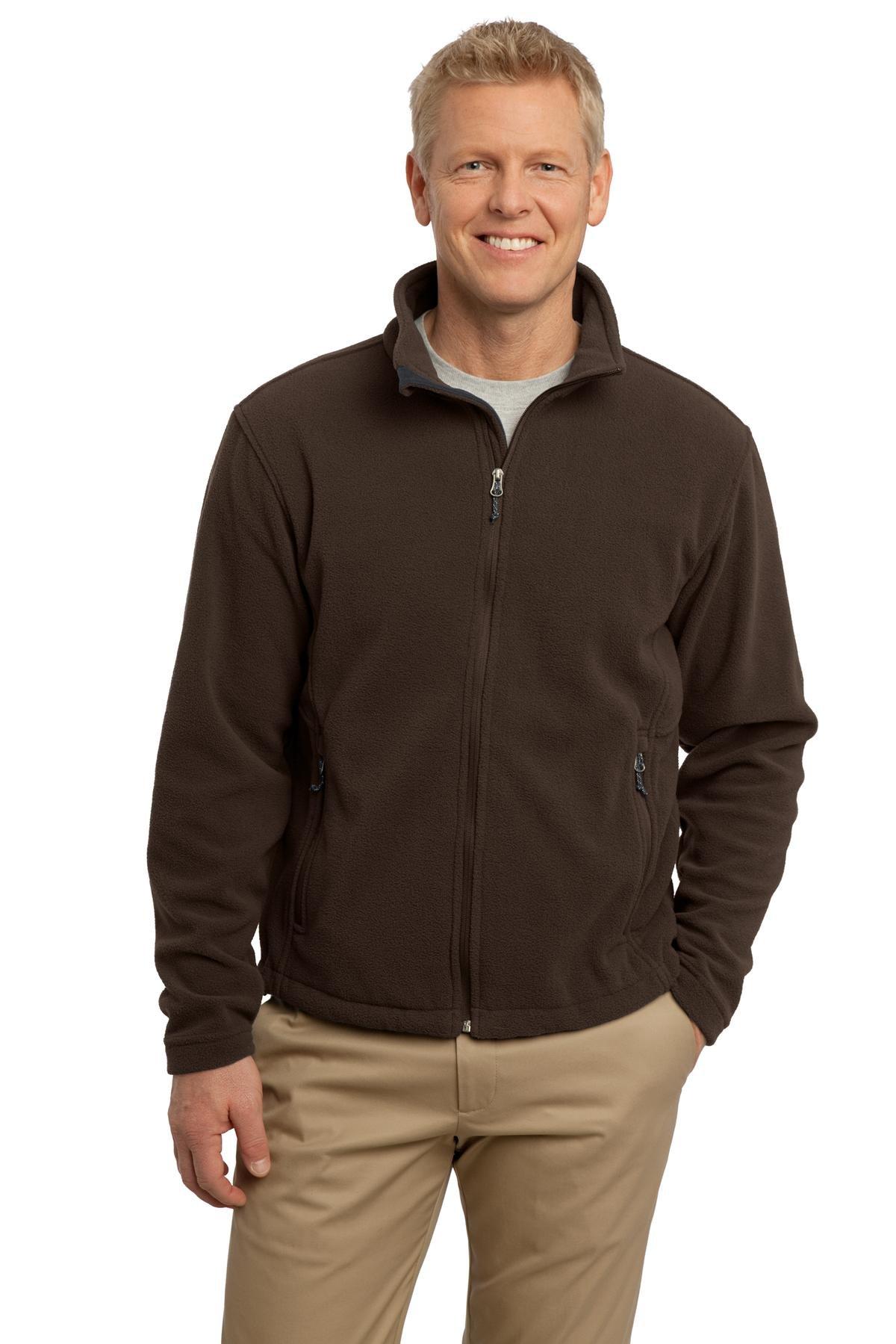 Port Authority Men's Value Fleece Jacket XL Dark Chocolate Brown