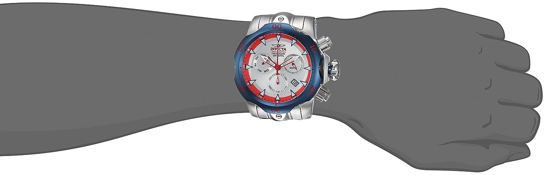 Amazon.com: Invicta Mens Venom Quartz Watch with Stainless-Steel Strap, Silver, 26 (Model: 24246: Watches