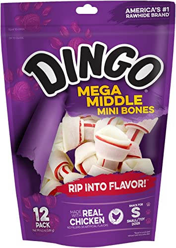 Dingo Mega Middle Chicken Mini Bones For Small Toy Dogs