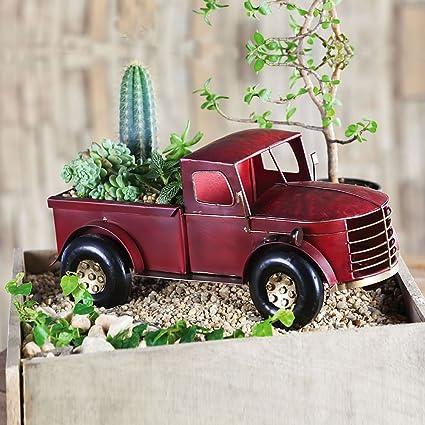 Amazon.com: Rojo Camión Maceta: Jardín y Exteriores