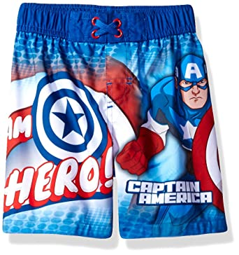 c6a0815157 Amazon.com: Marvel Toddler Boys' Avengers Swim Trunk: Clothing