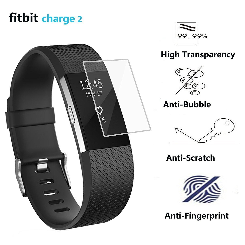 Fitbit Charge 2スクリーンプロテクター6パック、ztotopフルカバースクリーンプロテクターfor Fitbit Charge 2 HDクリアブルー B01M070XCI