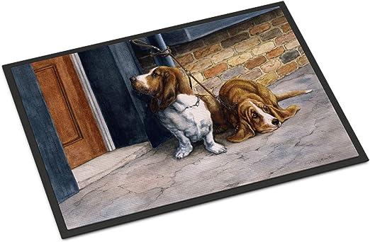Amazon Com Caroline S Treasures Bdba0016jmat Bassets Basset Hound Indoor Or Outdoor Mat 24x36 24h X 36w Multicolor Caroline S Treasures Home Kitchen