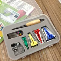 16PCS Bias Tape Maker 50MM Sewing Quilting Tools Ochine Bias Tape Maker Kit Set with Quilting Awl and Binder Foot 2inch